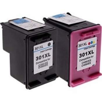 Conjunto 2 Tinteiros Compatíveis HP 301 XL