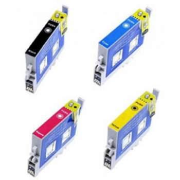 Conjunto de 4 Tinteiros Compatíveis Epson T0711/2/3/4 (T0715)