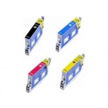 Conjunto de 4 Tinteiros Compatíveis Epson T0891/2/3/4 (T0896)