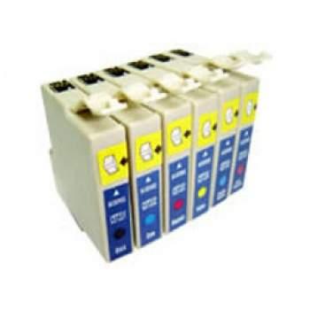Conjunto de 6 Tinteiros Compatíveis Epson T0481/2/3/4/5/6