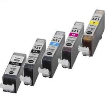 MultiPack Canon Compatível PGI-520BK/CLI-521BK/CLI-521C/CLI-521M/CLI-521Y