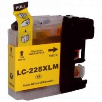 Tinteiro Brother Compatível LC225 XL (Nova versão V2) Amarelo
