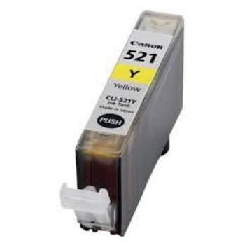 Tinteiro Canon Compatível CLI-521Y amarelo